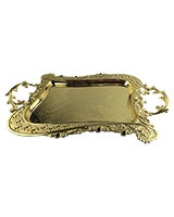 Golden Tray With Black Stones AS2758-258