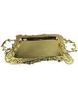 Golden Tray With Blue Stones AS2758-258