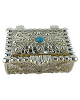 Jewellry Box With Blue Stones AS6089-304