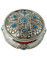 Jewellry Box With Blue Stones AS6761-303