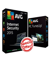 Internet Security Version 2015 1 Year -1 User + PC Tune UP 1 User Bundle - AVG