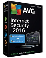 Internet Security Version 2016 + Mobile Security  1 Year - 1 User - AVG