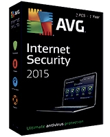 Internet Security Version 2015 1 Year - 2 User - AVG