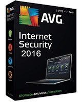 Internet Security Version 2016 1 Year - 3 User - AVG