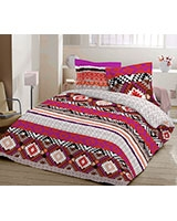 Printed fitted bed sheet Aboriginal A design - Comfort