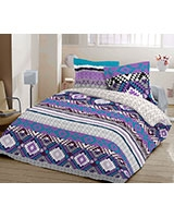 Printed fitted bed sheet Aboriginal B design - Comfort