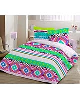 Printed fitted bed sheet Aboriginal C design - Comfort
