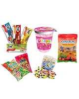 1 Tito Jumbo Crispy Wafer + 1 Toffee + 1 Boom XXL Bag + 2 Bag Mini Bon 90g + 2 Cups Dingo - ٍSima