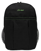 "Laptop Backbag 15.6"" Waterproof Black/Green BG181 - e-Train"