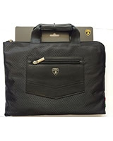 "Lamborghini Sythetic leather laptop carrier Bag Fit Up To 13"" Black BG548"