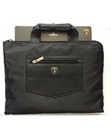 "Lamborghini Sythetic leather laptop carrier Bag Fit Up To 13"" Black BG548"