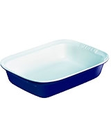 Ceramic Blue Rectangular Roaster - Pyrex