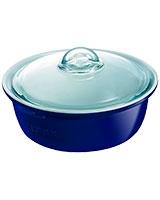 Ceramic Blue Round Casserole - Pyrex