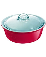 Ceramic Red Round Casserole - Pyrex