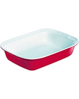 Ceramic Red Rectangular Roaster - Pyrex