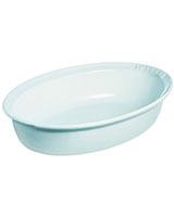 Impressions Oval Ceramic Roaster White - Pyrex