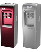 2 Taps Hot & Cold Water Dispenser BY-90 Dark Red - Bergen