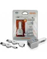 USB Car Charger SET 2 Output MP2U - SBS