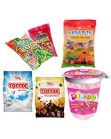 2 Bag Toffee 90g (1 Chocolate + 1 Milk) + 1 Bag Toffee 90g Free + 1 Boom XXL Bag + 2 Bag Mini Bon 90g + 2 Cups Dingo - Sima