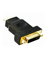 HDMI 19M/DVI 24+1F Adaptor 24K Gold plated - Yes Original