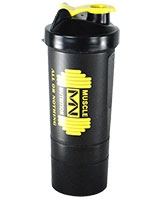Protein Powder Shaker 600ml Black CHK-41 - Muscle Nutrition