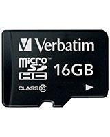 MicroSDHC Class 10 Memory Card 16GB - Verbatim