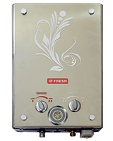 Crystal Gas Water Heater Silver 6 L - Fresh