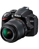Digital SLR Camera 24.2 Megapixels D3200 + Bag lowepro Small + SD Card 8GB + Lens 18-55 + 55-200 + Wifi - Nikon