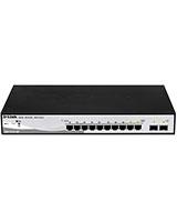 8-Ports 10/100/1000Base-T PoE + 2 Combo 1000Base-T/SFP ports Smart Switch DGS-1210-10P - D-Link