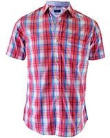 Short Sleeve Shirt 33MT703 Fuschia/Labany - Dandy