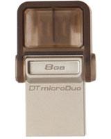 DataTraveler microDuo USB 2.0 Flash Drive 8GB - Kingston