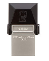 DataTraveler microDuo USB 3.0 Flash Drive 16GB - Kingston