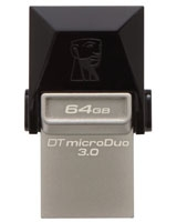 DataTraveler microDuo USB 3.0 Flash Drive 64GB - Kingston