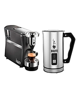 Diva Espresso Machine Silver 20 Bar + Milk Frother - Bialetti