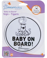 Tiger Baby On Board Sign F239 - Dream Baby