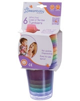 Lose Or Re-use Spill Proof Tumblers 6 Packs - Dream Baby