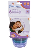 Lose Or Re-use Snack Cups 6 Packs - Dream Baby