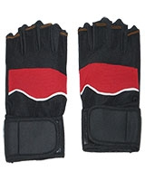 Gym and Cycling Gloves And Mitts Black/Red FHB-413 - Energy