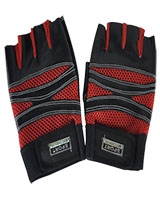 Gym and Cycling Gloves And Mitts Black/Red FHB-416 - Energy
