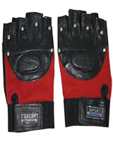 Gym and Cycling Gloves And Mitts Black/Red FHB-49 - Energy