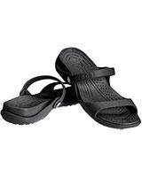 Women's Cleo Black/Black Sandal 10043 - Crocs