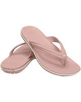 Unisex Crocband Pearl Pink/White Flip 11033 - Crocs