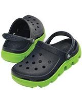 Kids' Duet Sport Navy/Volt Green Clog 11992 - Crocs