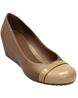 Women's Cap Toe Bronze/Gold Wedge 12299 - Crocs
