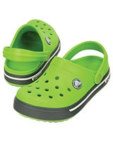 Kids' Crocband II.5 Volt Green/Charcoal Clog 12837 - Crocs