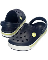 Kids' Crocband II.5 Navy/Citrus Clog 12837 - Crocs