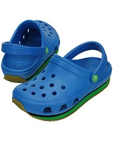 Kids' Retro Neon Ocean/Grass Green Clog 14006 - Crocs