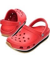 Kids' Retro Neon Red/Black Clog 14006 - Crocs