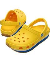 Kids' Retro Neon Yellow/Ocean Clog 14006 - Crocs
