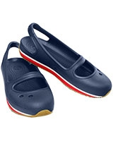 Girls' Retro Mary Jane Navy/Red 14009 - Crocs